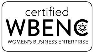 Certified WBENC Pantone w k text
